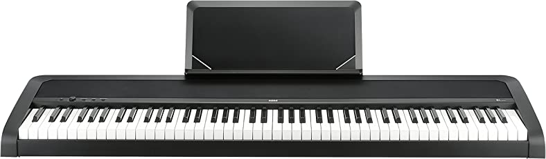"Korg B1BK Concert-Piano ""Slim-Line"" 8 Sounds, Speakersystem mit Motional Feedback Technologie"