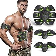HOPOSO Elettrostimolatore per Addominali,Elettrostimolatore Muscolare Professionale, Stimolatore Muscolare 2 in 1 Massager EM