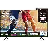 Hisense 55AE7000F 139 cm (55 Zoll) Fernseher (4K Ultra HD, HDR, Triple Tuner DVB-C/ S/ S2/ T/ T2, Smart-TV, Frameless, Blueto