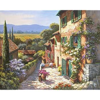 Malen auf Leinwand Meisterwerk Romantic Cottage