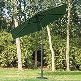 Outsunny 2.7m Patio Garden Umbrella Outdoor Parasol with Crank and 38mm Aluminum Tilt Pole (Green) - Outsunny - amazon.co.uk