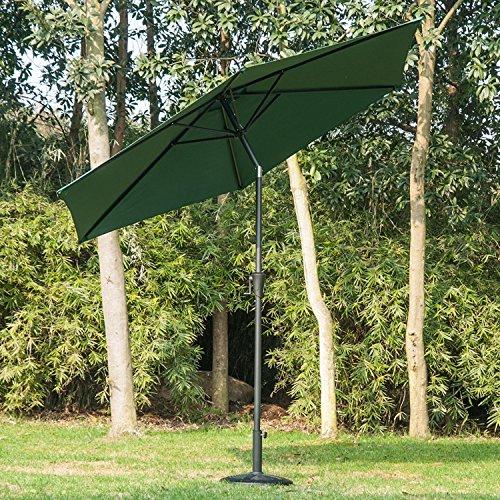 outsunny-27m-patio-garden-umbrella-outdoor-parasol-with-crank-and-38mm-aluminum-tilt-pole-green