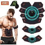 Elettrostimolatore per Addominali,Elettrostimolatore Muscolare,EMS Stimolatore,USB Addominale Tonificante Cintura, LCD…