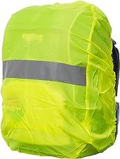 Regenschutz für Rucksäcke | Wasser- und Windabweisend | Reflektorstreifen | Rucksackschutz Ranzen Regenschutz Regencape Rucksackcover Regenüberzug Neon Sicherheitsüberzug Reflektorüberzug