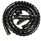 MX Cable Organizer Cable Management WIREMESH Easy Cable Cover 34MM - 1.5 Meters - MX 2696C - Black