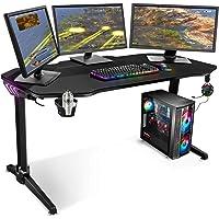 Spirit Of Gamer – Bureau Gaming Rétroéclairé LED RGB - Headquarter 400 – Design Futuriste – Plateau XXL 140cm– Support…