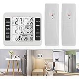 OurLeeme Trådlösa digitala termometrar, kylskåpstermometer LCD digital skärm hörbart larm frys termometer vattentät med 2 trå