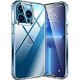 KKM Funda Compatible con iPhone 13 Pro MAX, [Nunca-Amarillo] Transparente Dura Delgado PC + Silicona Suave TPU Cuadro Protect