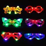 Colmanda Juguetes luminosos, 6 Piezas Gafas LED Favores de Fiesta para Niños, Regalos Fiestas Infantiles Juguetes Luminosos p