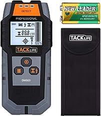 Ortungsgerät, Tacklife DMS03 Multifunktions Wand Scanner Detektor, Digitales Stud Finder mit Großer LCD Hintergrundbeleuchtung und Signalanzeige mit Schutztasche für AC Draht, Holz und Metall