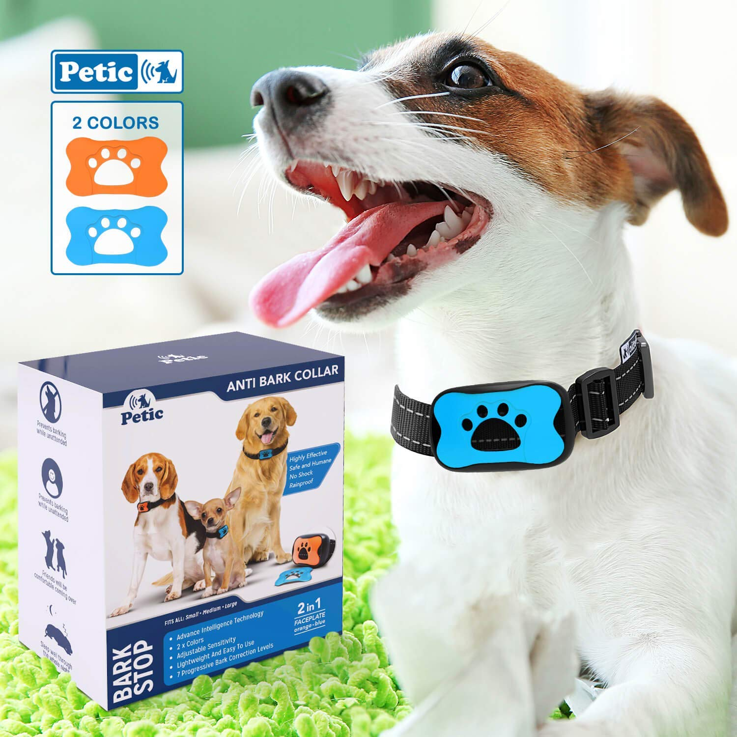Advanced 2in1 Anti Bark Dog Collar   Stop Dogs Excessive Barking Device! SAFE HARMLESS & HUMANE Anti-Bark Training for Small Medium Large Size Breeds