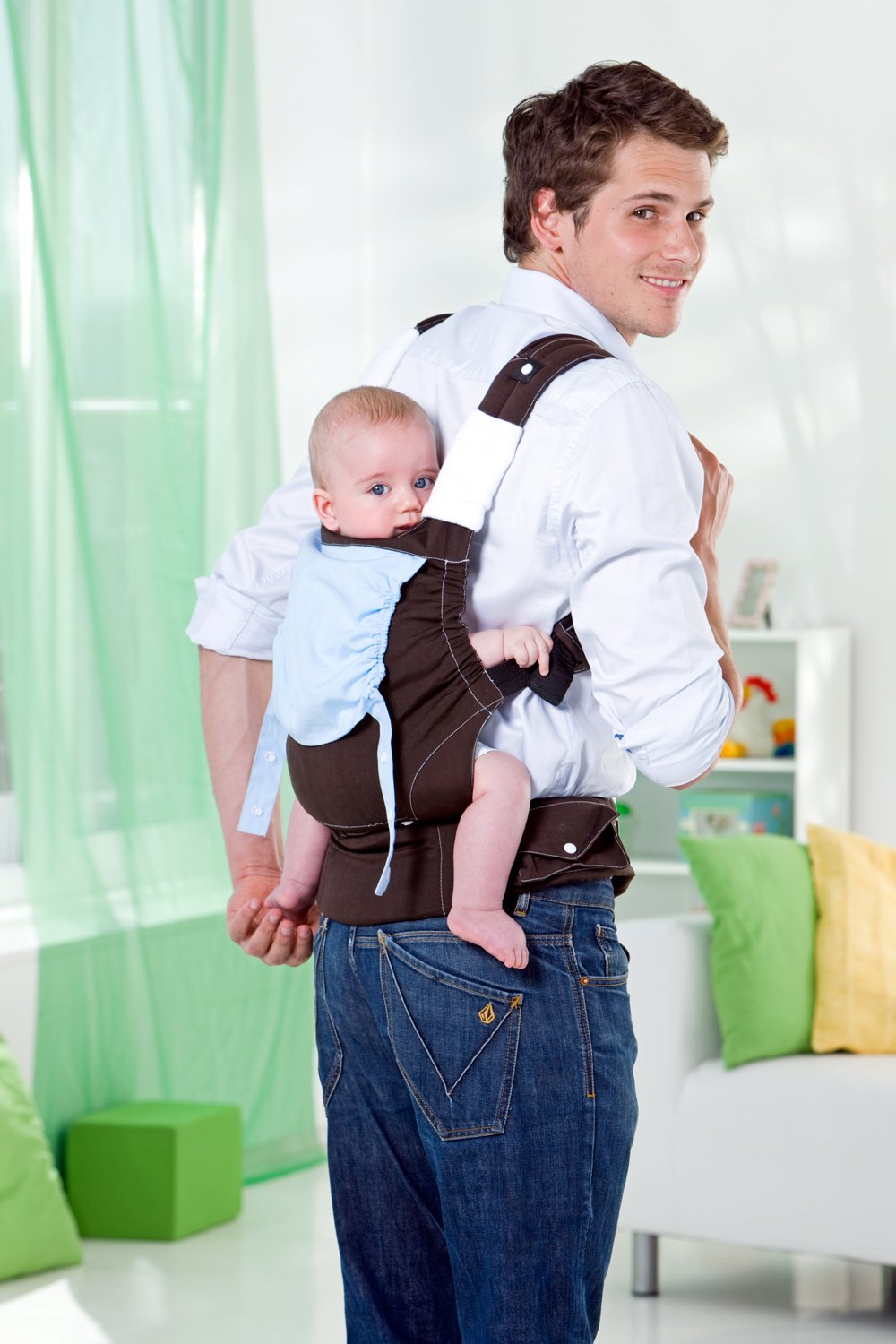 Amazonas Baby Smart Carrier - Earth AMAZONAS Waist belt length: 78 - 145 cm Flexible bridge: approx. 26 - 33 cm Load capacity: max. 3.5 - 15 kg 3