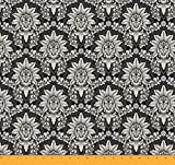 Soimoi dekorative Blumen Damast-Druck 44 Zoll breit 20 GSM