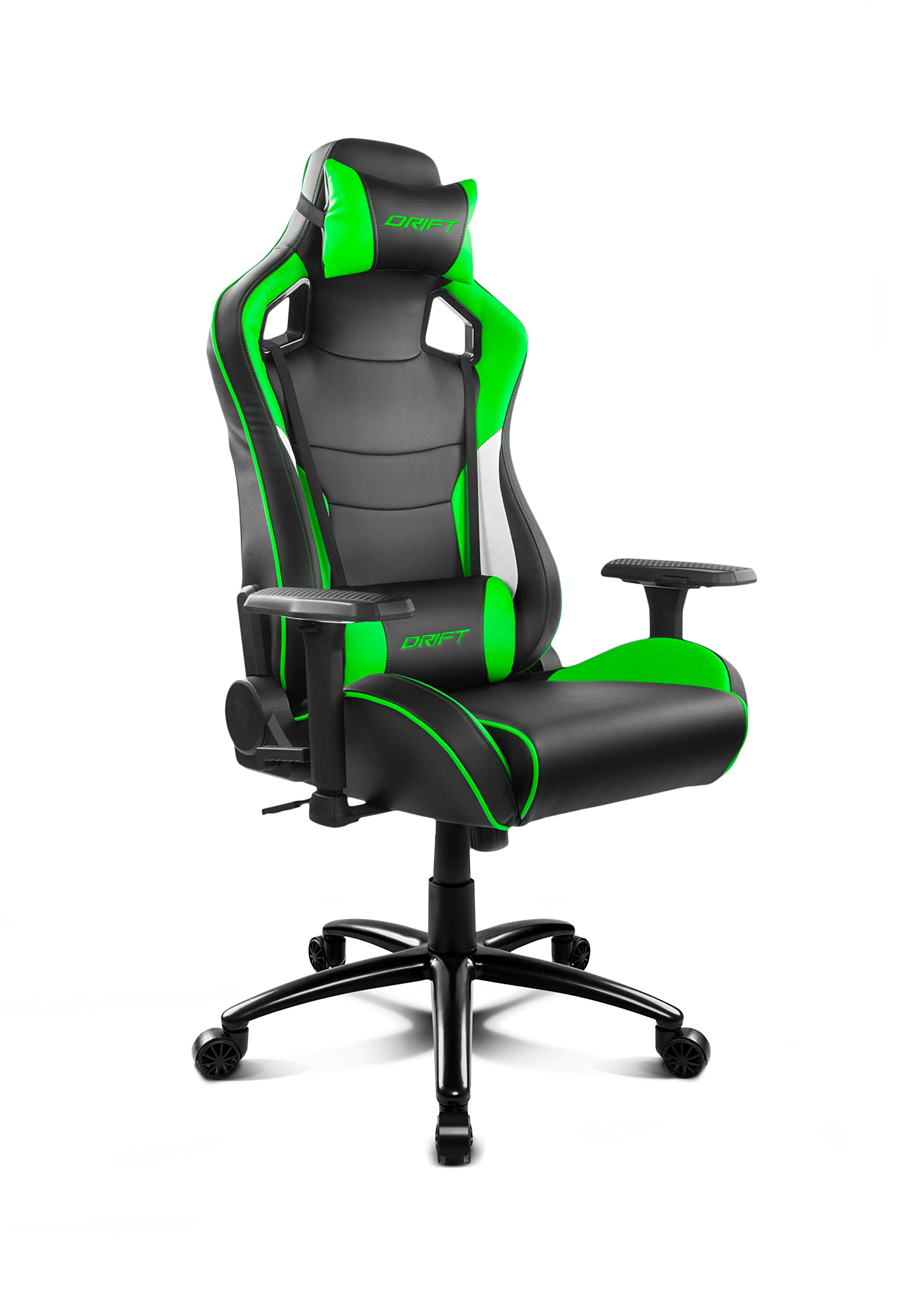 Drift DR400BG – Silla gaming, color negro y verde