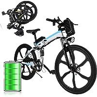 """Bunao Vélo électrique pour vélo de Montagne électrique avec moyeu Shimano 21 Vitesses, 250W, 8AH, Batterie Lithium-ION 36V, 26"""", vélo de Ville léger, vélo de Ville Pedelec"""