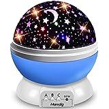Veilleuse Enfant, Lampe Projecteur Rotation à 360° Romantique,Veilleuse Bébé Étoiles, Lampes de Chevet Lampes d'ambiance, 4 L