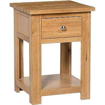 9398743fe13c Hallowood Waverly 1 Drawer Small Side Light Oak Finish