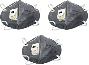 3M CL-9004V Anti Pollution Mask (Pack of 3, Grey)