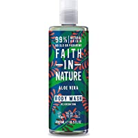 Faith in Nature Natural Aloe Vera Body Wash, Rejuvenating Vegan and Cruelty Free, Parabens and SLS Free, 400 ml