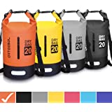 ARTEESOL Dry Bag - 5L 10L 20L 30L Waterproof trockener Beutel/Sack Wasserdichte Tasche mit Langem justierbarem Bügel für Kayaking Boots-Ausflug Kanu/Fischen/Rafting/Schwimmen/Snowboarding.
