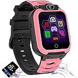 Jaybest Kids Smart Watch, Kids SmartWatch Telefoon SOS met Muziek Game Video Call 7 Games Smartwatch voor Jongens Meisjes 3-1