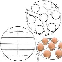 JJQHYC Support de Vapeur Acier Inoxydable Support de Cuisson à Vapeur Rond Cuisson Grilles à Vapeur pour Casseroles et…