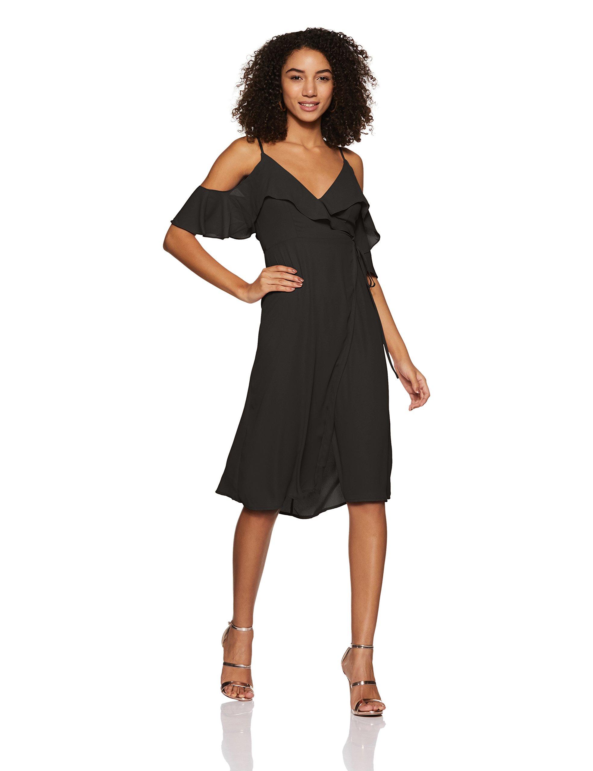 Forever 21 Women's Wrap Midi Dress