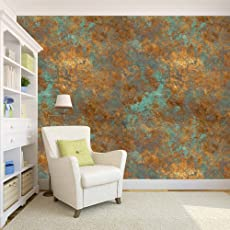 100yellow Golden With Dark Sea Green Colour Wallpaper Pattern (Self  Adhesive) Peel And Stick