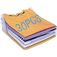 Organisateur d'armoires,Organiseur de T-Shirt,Vêtements Documents Chemise T-Shirt de Taille Normale (30PCS)