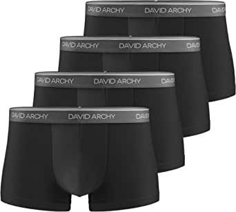 DAVID ARCHY Men's Boxers, Men's Briefs, Men's Trunks Underwear Bamboo Mens Boxer Shorts Multipack, Ultra Soft and Breathable