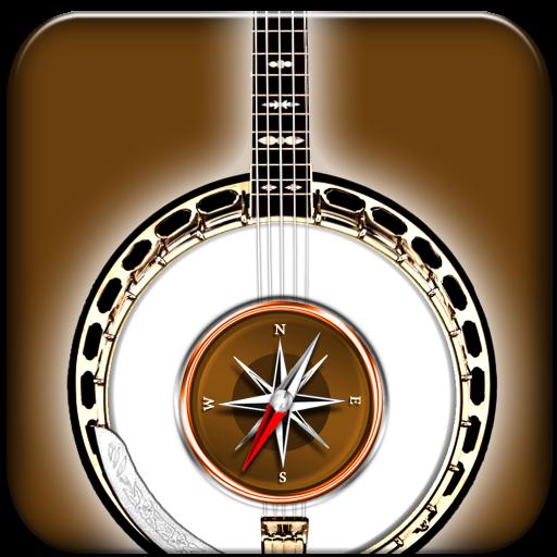 Kompass der Akkorde für das Banjo