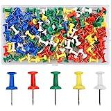 Dokpav 180PCS 5 Couleurs Multicolore Punaises Décoratives, Punaises à tête en Plastique, Creative Mode Punaises, Décoratifs P