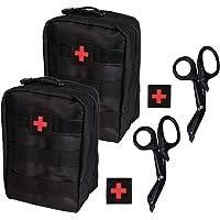 KrisVie 2PCS Pochette EMT Médecine Tactique Sac étanche Molle de Premiers Secours, Trousse Kit de Premiers Soins…