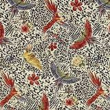 Fabulous Fabrics Gobelin Chenille Papageien — Meterware