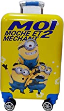 EXCLUSIVE FASHION LUGGAGE 16inch 360Degree Printed Pattern Non-Breakable Rotating Lagguge Wheels Bag (16 Minions)_Multi-Colour