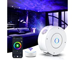LED Alexa Projecteur Étoiles Rotatif, YINAMA Projecteur Galaxie Intelligent, Réglage RGB Veilleuse Projecteur Intelligent, Ch