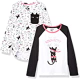 Spotted Zebra 4-Pack Long-Sleeve T-Shirts Niñas, Pack de 4