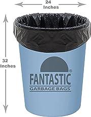 Fantastic Premium Plastic Garbage Bags(Trash Bag/ Dustbin Bag),61x79-Cm(Black) - 3 Rolls (45 Bags)