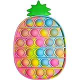 Push Pop Bubble Ananas Fidget Toy Pas Cher,Pincez sensorielle Jouet Anti Stress Bubble Sensory Fidget Toy pour Enfant et Adul