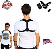 Upright Posture Trainer - Back Straightener - FDA Approved Posture Corrector for Men and Women Under Clothes - Upgraded US D