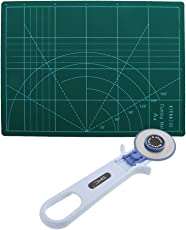 MagiDeal A4 Self Healing Grid Lines Cutting Mat Non Slip Board + 45mm Rotary Cutter Sewing Quilting Cutting DIY Tool