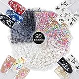 JNCH 90 vellen nagelstickers, vingernagels, 3D-design, zelfklevende tattoosticker, nail art tip, manicure-decals, doe-het-zel