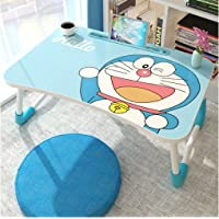 BRUSHFINCH Writing Homework Table Creation-Best for Kids, Doremon Cartoon Pattern Top Multipurpose Wooden Laptop Desk…