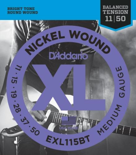 D'Addario EXL115BT Saiten Satz E-Gitarre 011 - 050 Medium Balanced Tension
