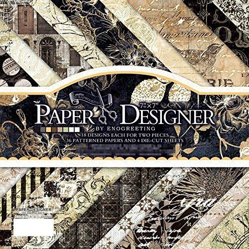 40 feuilles 17,5 x 18 cm DIY Craft papier à motifs de travail Pad papier cartonné Pad Photo Fond décoratifs style de Motif Vintage carte de papier (009)