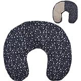 Cuscino termico cervicale con noccioli di ciliegia'Fiori - blu' 36 x 32 cm - ripieno con 600gr di noccioli di ciliegie…