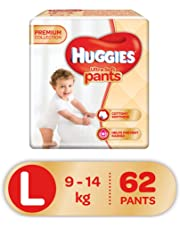 Huggies Ultra Soft Pants Diapers, Large (Pack of 62)