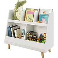 SoBuy® KMB19-W Bibliothèque Étagère à Livres Enfants Étagère de Rangement Jouets pour Enfants Porte-revues 5…