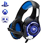Beexcellent Gaming Headset for PS4 Xbox One, Comfort Noise Reduction Crystal Clarity 3.5mm LED Professional Headphone...