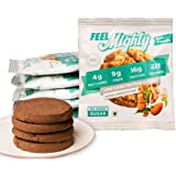 Feel Mighty Low Carb Protein Cookies- Sugar Free, Keto Friendly, Gluten Free Low Calorie Snack &- Pack of 5 Almond…